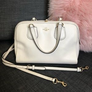 Coach handbag - doctor's satchel in off white